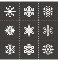 Snowflake icon set vector