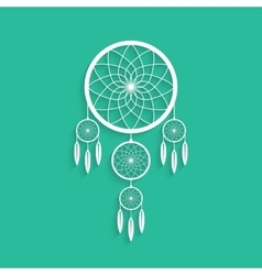 White dream catcher with shadow vector