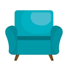 Sofa chair furniture isolated flat icon vector image