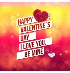 Attractive Happy Valentines Day Concept vector image