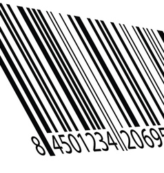 Bar code on a white vector