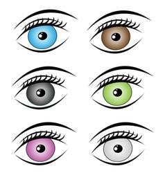 Beauty eyes style vector