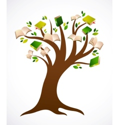 book tree ilustration vector image