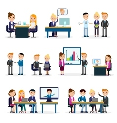 Business people flat collection vector