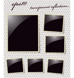 Collection of Vintage Photo Frames vector image vector image
