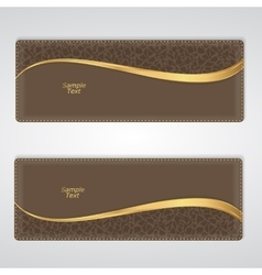 Elegant brown leather horizontal banner with a vector image vector image