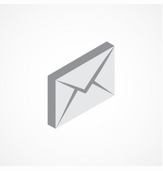 email isometric icon 3d vector image vector image