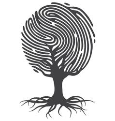 Finger print tree vector image vector image