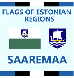 Flag of estonian region saaremaa vector