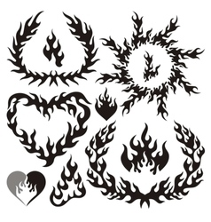 flame silhouettes vector image vector image