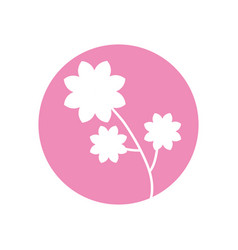 Flower spring natural icon vector