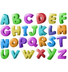 Font design with english alphabets vector image