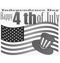 gray independence day 4 july vector image vector image