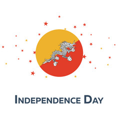 Independence day of bhutan patriotic banner vector