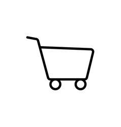 line shopping card trolley icon vector image