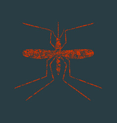mosquito grunge icon vector image