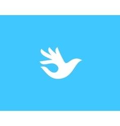 Ok bird logo design hand palm wings vector