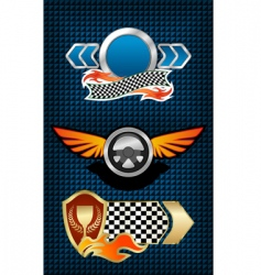 Racing symbols and icons vector