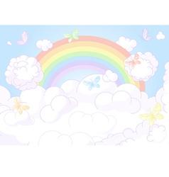 Rainbow sky vector