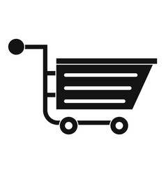 Sale shopping cart icon simple style vector