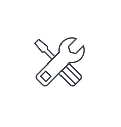 screwdriver wrench tool setup settings thin vector image