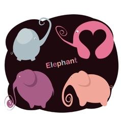 Set elephants vector