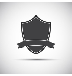 Simple shield icon flat style vector image