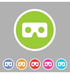 Virtual reality cardboard goggles glasses icon vector image vector image
