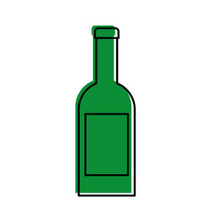 wine bottle drink beverage celebration vector image