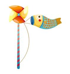 Japanese koi carp windsocks vector