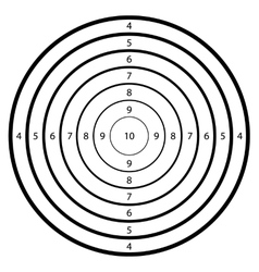 target for shooting at a range vector image
