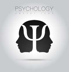 Modern head of psychology profile human in vector