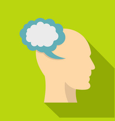 profile of the head with cloud inside icon vector image