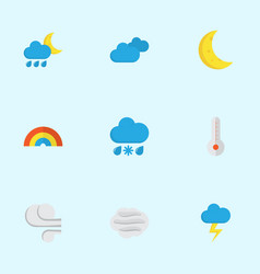 climate flat icons set collection of hailstones vector image
