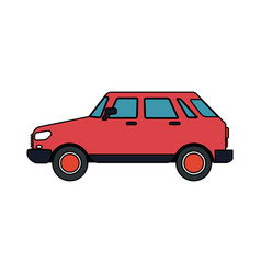 small red car icon image vector image