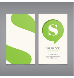 Business card template letter s vector