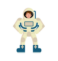 Astronaut angry emoji spaceman aggressive emotion vector