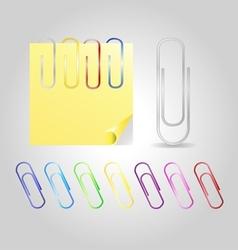 Colofrul paper clips vector
