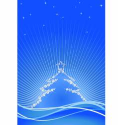 Jewel christmas tree vector