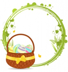 Easter basket border vector