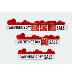 Happy valentines day sale banner vector
