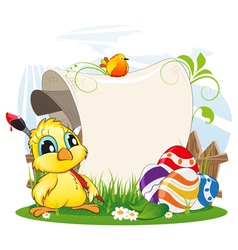 Easter invitation vector