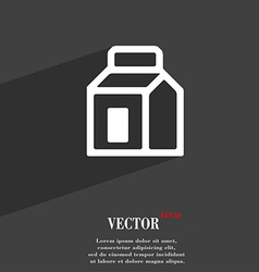 Milk juice beverages carton package icon symbol vector