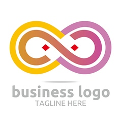 Abstract logo bussines infinity company connecting vector