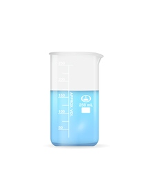Chemical beaker 250 ml volume vector
