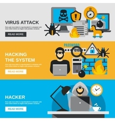 Hacker banner set vector