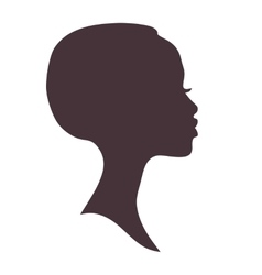 African woman face silhouette vector