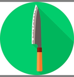 Flat chef knife vector