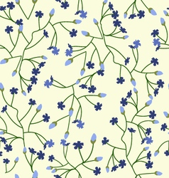 Floral background with small flowers vector