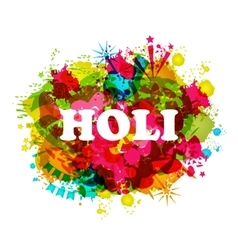 Dj party banner for holi vector